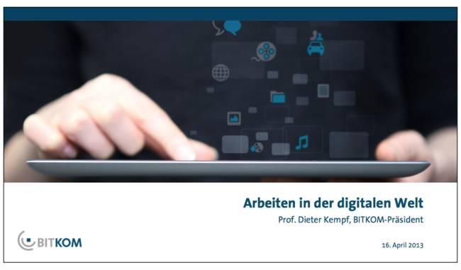 Bitdom-Studie Arbeiten in der digitalen Welt
