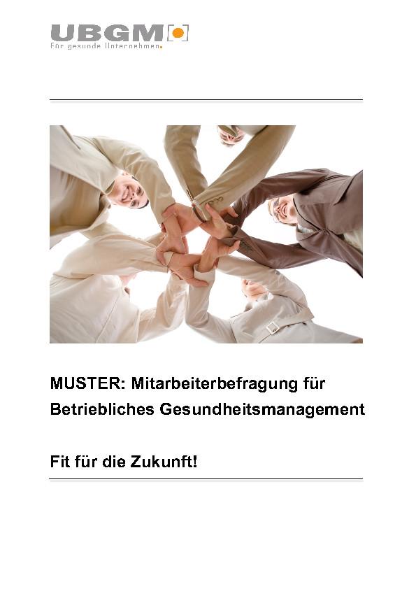 thumbnail of ubgm muster mitarbeiterbefragung betriebliches gesundheitsmanagement - Mitarbeiterbefragung Muster