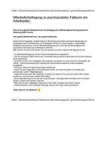 thumbnail of COPSOQ-Fragebogen Gefährdungsbeurteilung psychische Belastungen