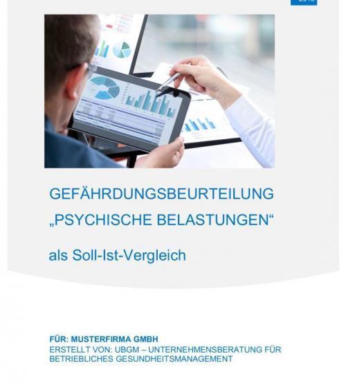 thumbnail of Gefährdungsbeurteilung psychische Belastung Muster KFZA-UBGM