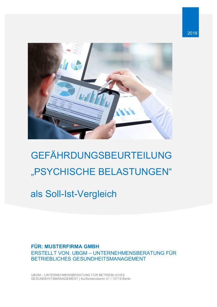 gefhrdungsbeurteilung psychische belastung muster kfza - Gefahrdungsanalyse Muster