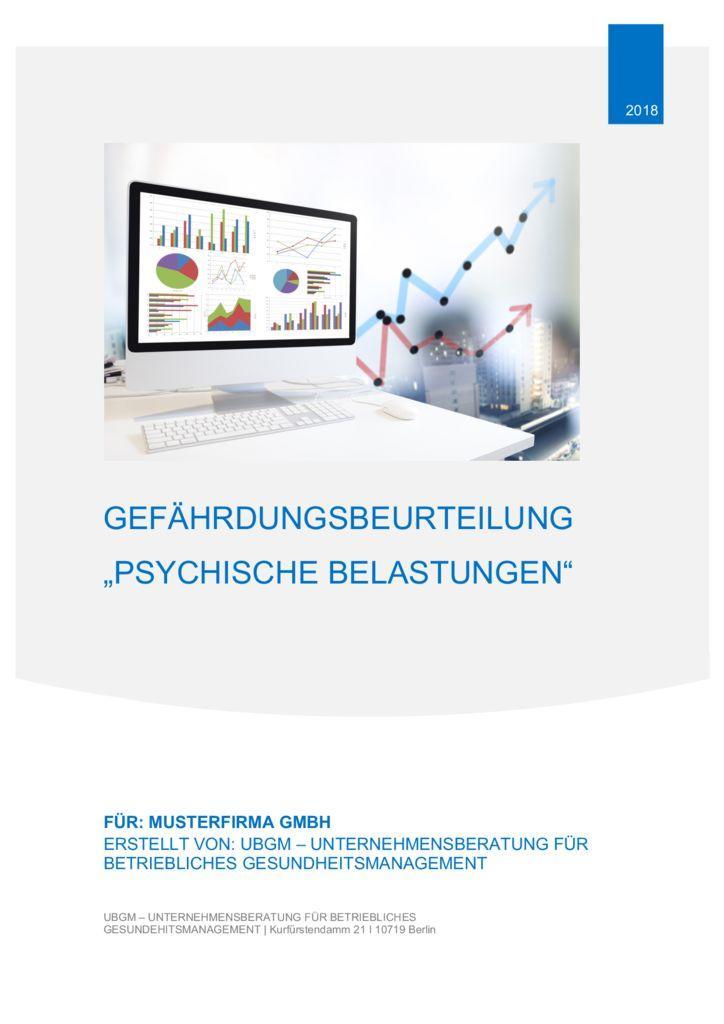 gefhrdungsbeurteilung psychische belastung muster ubgm - Gefahrdungsanalyse Muster